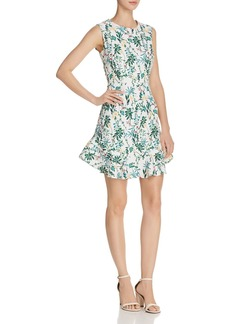 AQUA Botanical Flounce-Hem Dress - 100% Exclusive