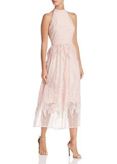 AQUA Botanical Lace Appliqu� Midi Dress - 100% Exclusive