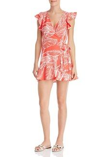 AQUA Botanical-Print Wrap Dress - 100% Exclusive