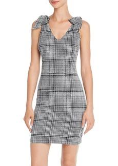 AQUA Bow Detail Plaid Dress - 100% Exclusive
