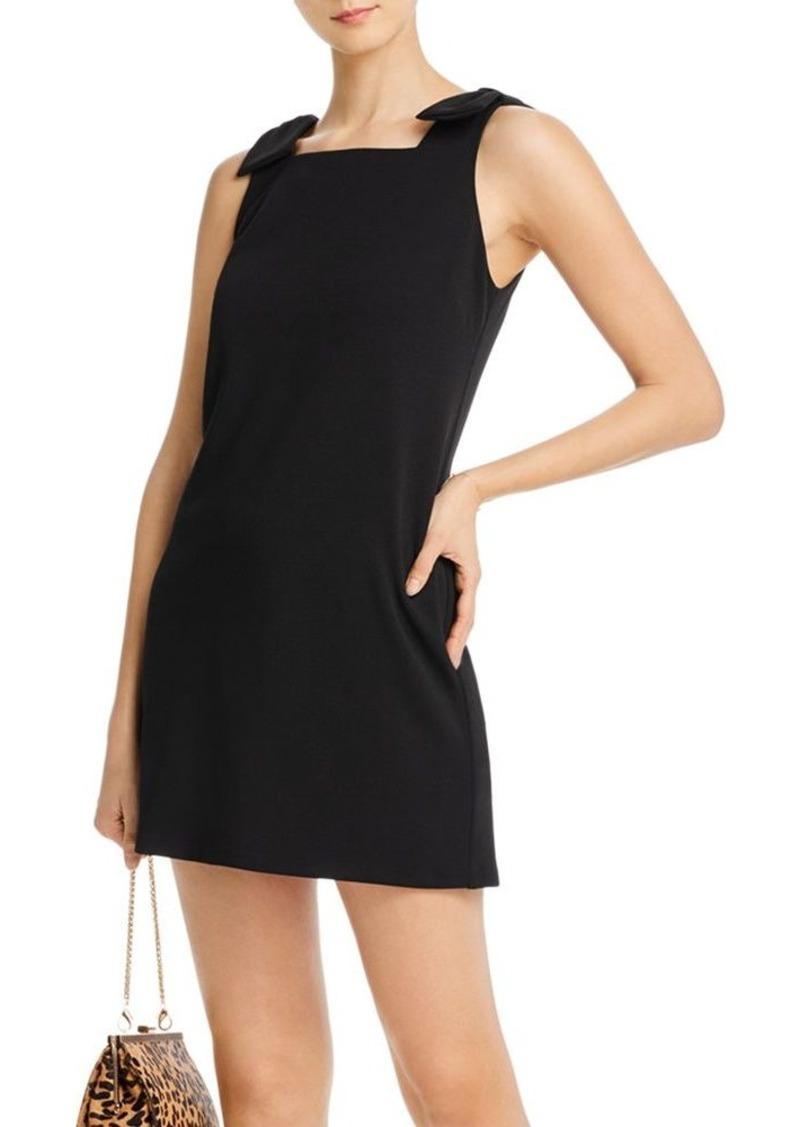 AQUA Bow-Shoulder Shift Dress - 100% Exclusive