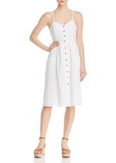 AQUA Button-Front Eyelet Dress - 100% Exclusive