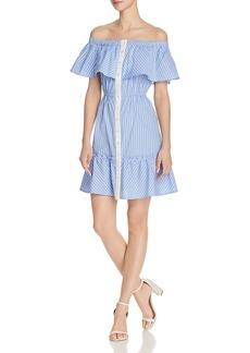 AQUA Button-Front Off-the-Shoulder Dress - 100% Exclusive