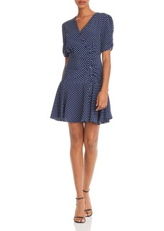 AQUA Button-Front Polka Dot Dress - 100% Exclusive