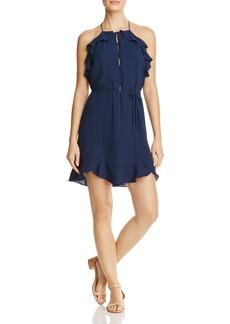 AQUA Button Ruffle Dress - 100% Exclusive