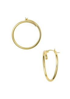 AQUA Bypass Hoop Earrings in 18K Gold-Plated Sterling Silver - 100% Exclusive