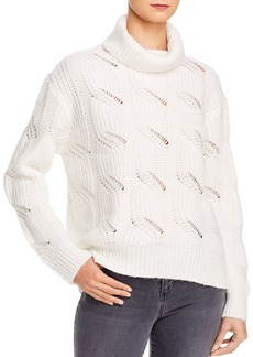 AQUA Cable-Knit Turtleneck Sweater - 100% Exclusive