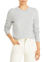 AQUA Cable Puff Sleeve Cashmere Sweater - 100% Exclusive