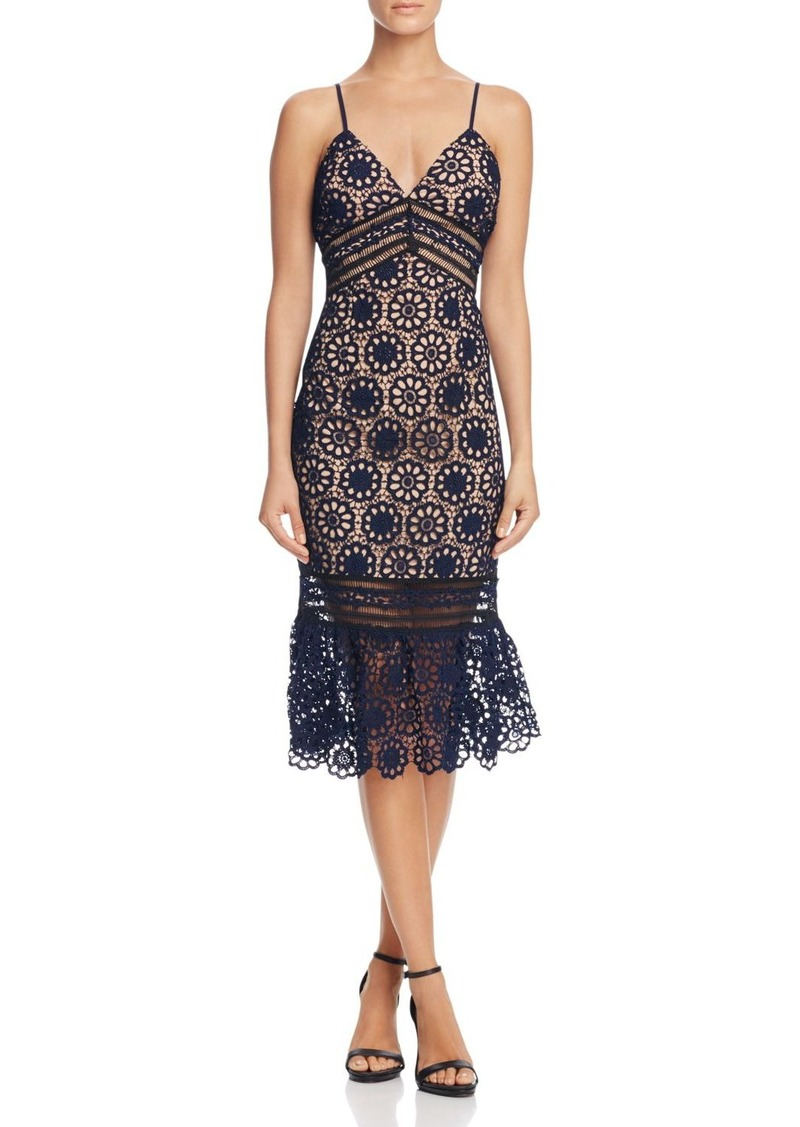 f47f3b62c77 Cami Lace Midi Flounce Hem Dress - 100% Exclusive. Aqua. from Bloomingdale s