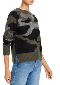 AQUA Camo-Print Knit Sweater
