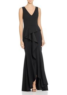 AQUA Cascading Ruffle Gown - 100% Exclusive