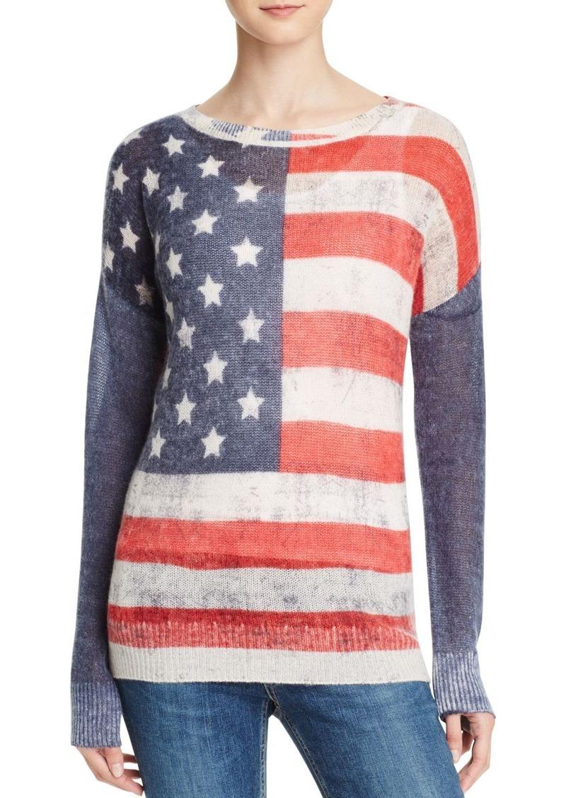 AQUA Cashmere American Flag Cashmere Sweater - 100% Exclusive