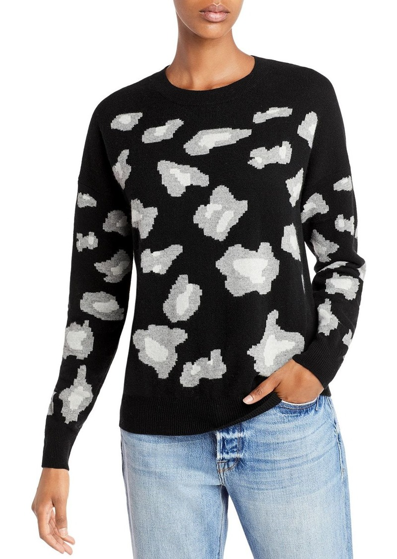 AQUA Cashmere Animal Print Cashmere Sweater - 100% Exclusive