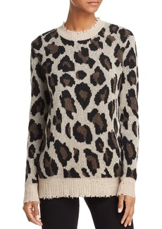 AQUA Cashmere Animal Print Cashmere Sweater - 100% Exclusive