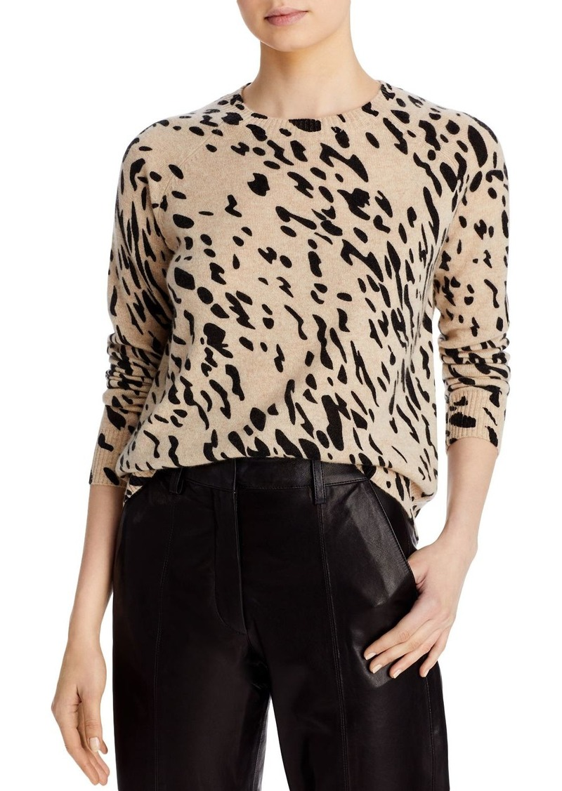 AQUA Cashmere Animal Print Sweater - 100% Exclusive