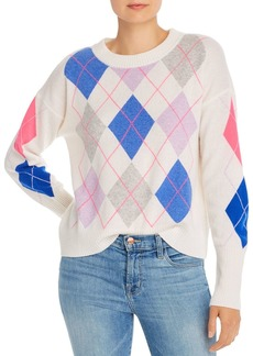AQUA Cashmere Argyle Cashmere Sweater - 100% Exclusive