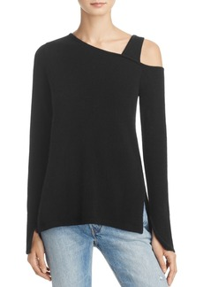 AQUA Cashmere Asymmetric One-Shoulder Sweater - 100% Exclusive