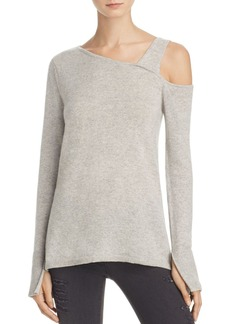 AQUA Cashmere Asymmetric One-Shoulder Sweater - 100% Exclusive