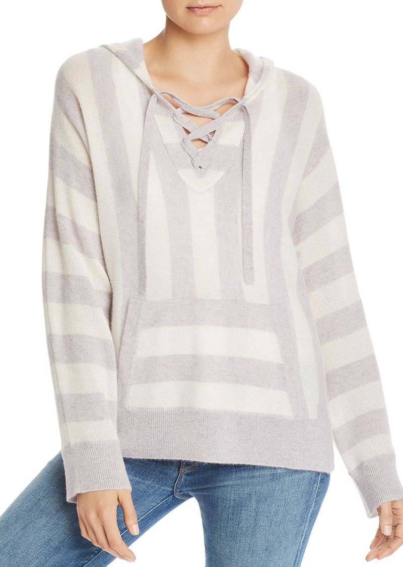 AQUA Cashmere Baja Striped Cashmere Sweater - 100% Exclusive