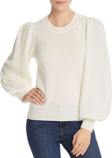 AQUA Cashmere Bishop-Sleeve Cashmere Sweater - 100% Exclusive