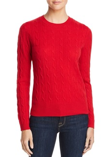 AQUA Cashmere Cable Crewneck Cashmere Sweater - 100% Exclusive