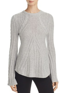 AQUA Cashmere Cable-Knit Bell Sleeve Sweater - 100% Exclusive