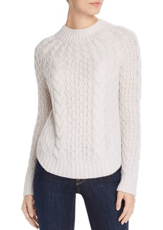 AQUA Cashmere Cable-Knit Cashmere Sweater - 100% Exclusive