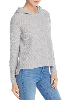 AQUA Cashmere Cable-Knit Hooded Cashmere Sweater - 100% Exclusive