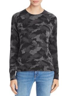 AQUA Cashmere Camo Crewneck Cashmere Sweater - 100% Exclusive