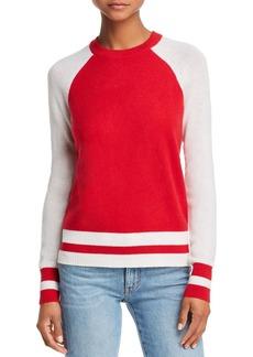 AQUA Cashmere Color-Block Raglan Cashmere Sweater - 100% Exclusive