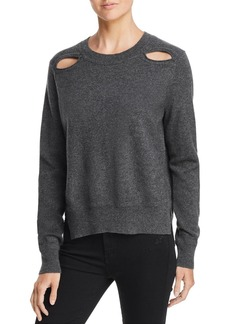 AQUA Cashmere Cutout High/Low Cashmere Sweater - 100% Exclusive