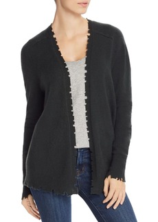AQUA Cashmere Distressed Cashmere Cardigan - 100% Exclusive