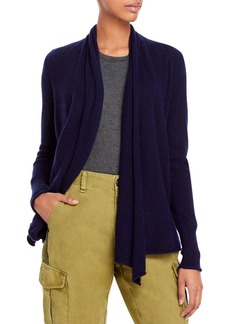 AQUA Cashmere Draped Open-Front Cashmere Cardigan - 100% Exclusive