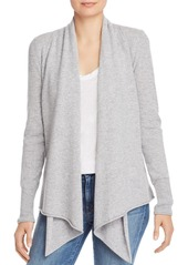AQUA Cashmere Draped Open-Front Cashmere Cardigan - 100% Exclusive