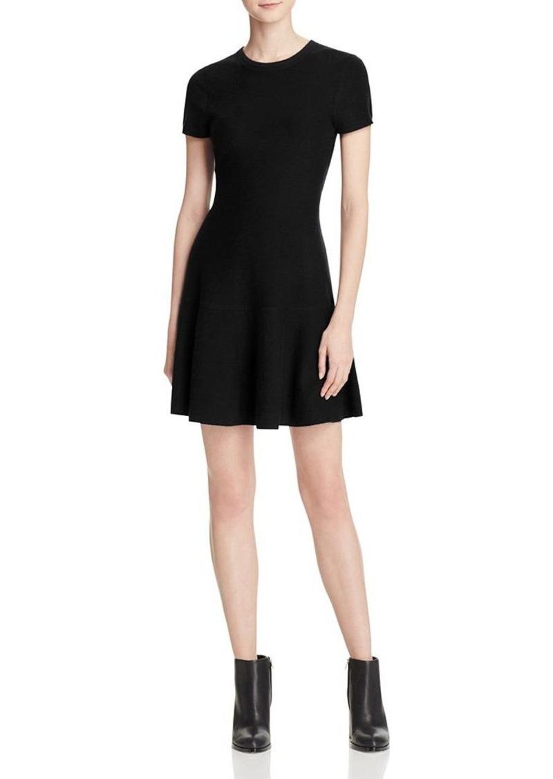 AQUA Cashmere Drop Waist Cashmere Sweater Dress