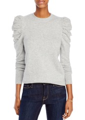AQUA Cashmere Embellished Puff Sleeve Cashmere Sweater - 100% Exclusive