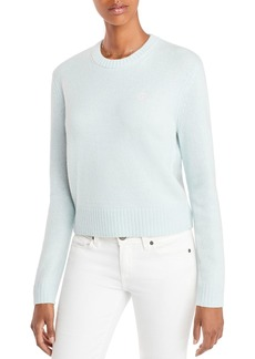 AQUA Cashmere Embroidered Peace Sign Cashmere Sweater - 100% Exclusive