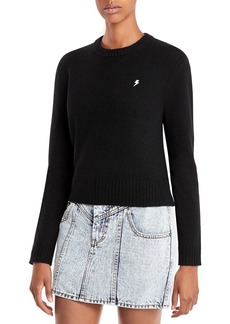 AQUA Cashmere Embroidered Lightning Cashmere Sweater - 100% Exclusive