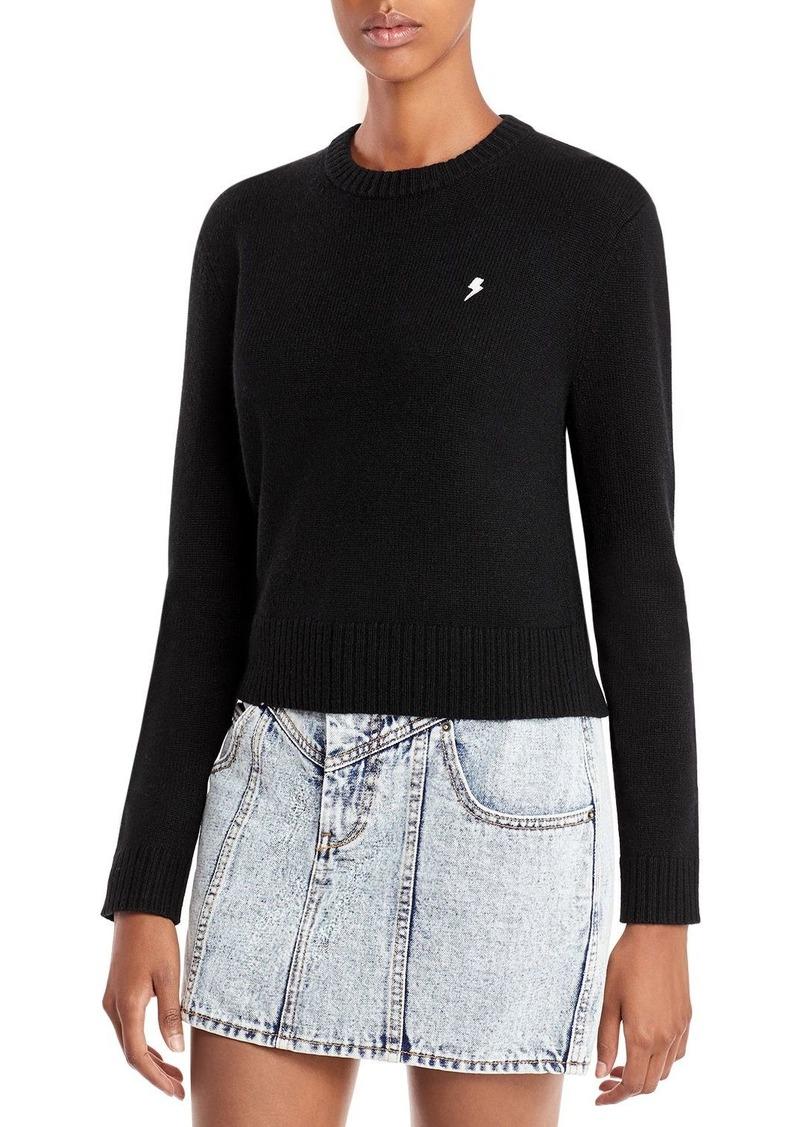 AQUA Cashmere Embroidered Lightning Bolt Cashmere Sweater - 100% Exclusive