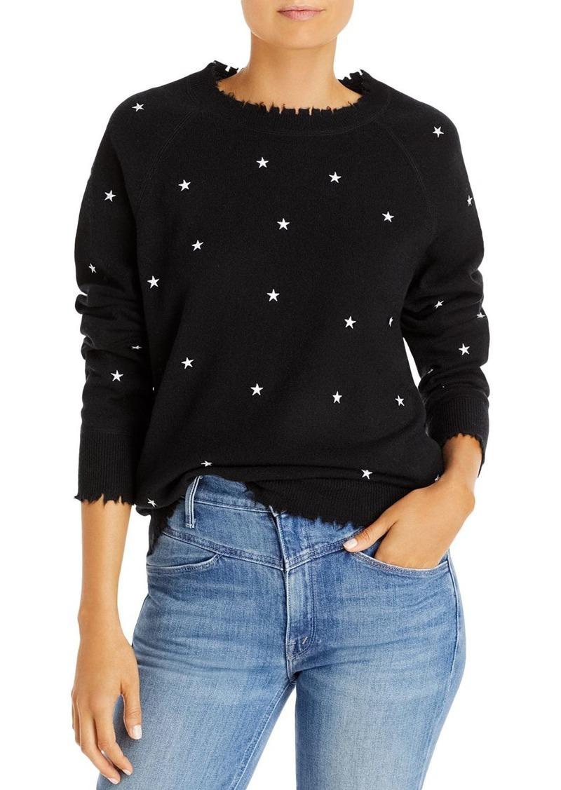 AQUA Cashmere Embroidered Star Cashmere Sweater - 100% Exclusive