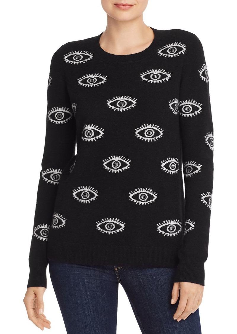 AQUA Cashmere Evil Eye Cashmere Sweater - 100% Exclusive