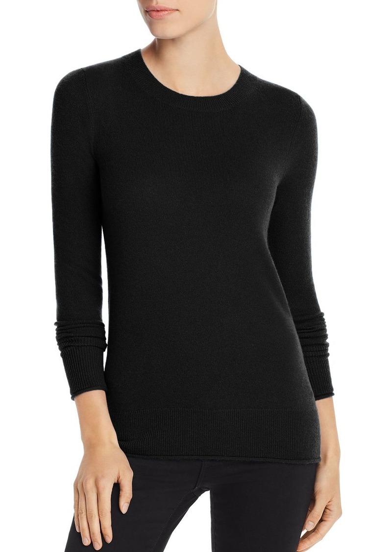 AQUA Cashmere Fitted Cashmere Crewneck Sweater - 100% Exclusive