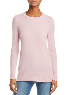 AQUA Cashmere Fitted Crewneck Sweater - 100% Exclusive