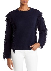 AQUA Cashmere Fringe Cashmere Sweater - 100% Exclusive