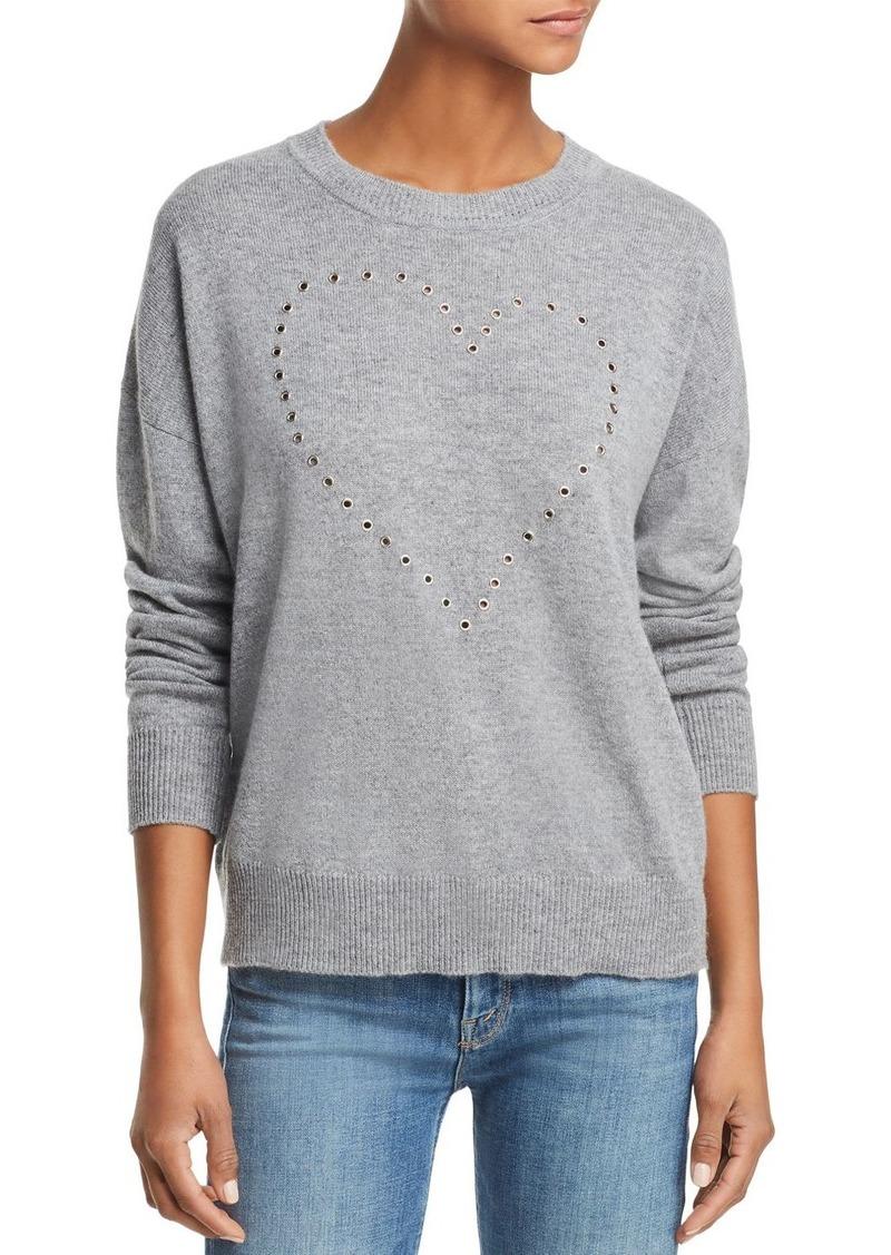 AQUA Cashmere Grommet Heart Cashmere Sweater - 100% Exclusive
