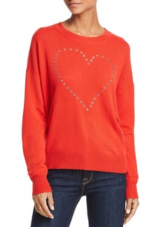 AQUA Cashmere Grommet Heart Cashmere Sweater - 100% Exclusive