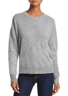AQUA Cashmere Grommet Star Cashmere Sweater - 100% Exclusive