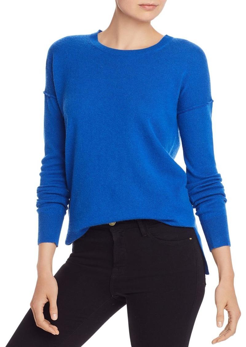 AQUA Cashmere High/Low Crewneck Sweater - 100% Exclusive