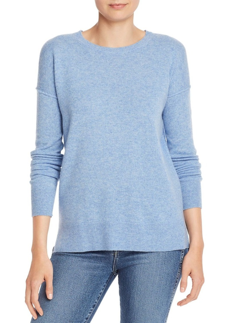 AQUA Cashmere High/Low Crewneck Sweater - 100% Exclusive