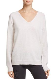 AQUA Cashmere Lace-Up Back Cashmere Sweater - 100% Exclusive